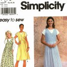 Simplicity 7176 Pattern uncut 12 14 16 Jumper in Two Lengths and Knit Top Easy to Sew