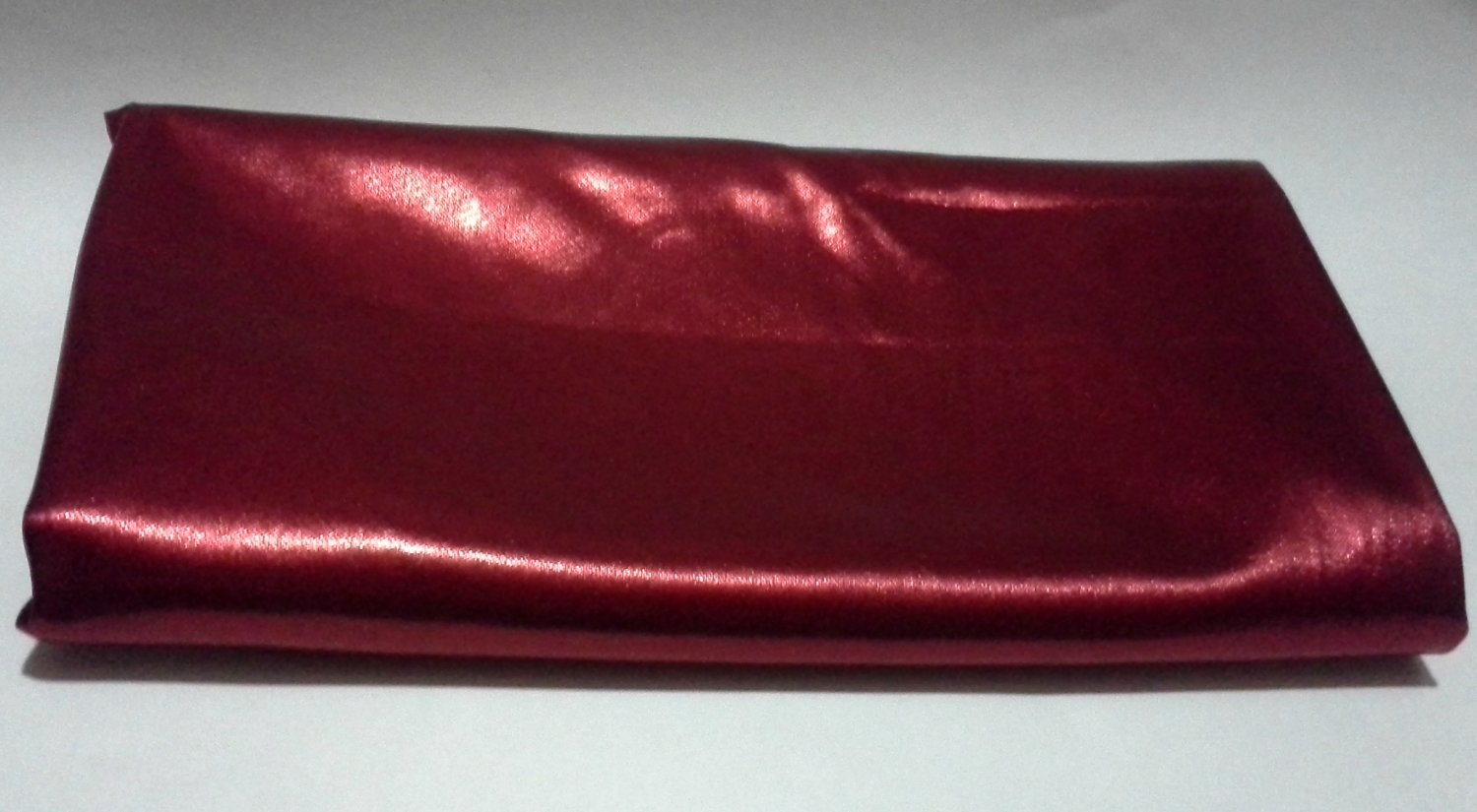 2-1/3 yards Solid Red Stretch Lycra Metallic Look Fabric Knit for Costumes Dolls Dance