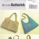Butterick B5109 Pattern Uncut Large Purses Bags Handbags