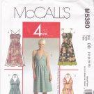 McCall's M5380 Pattern uncut 12 14 16 18 Summer Dresses Designer Laura Ashley