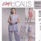 McCall's 8213 Pattern uncut 20 22 24 Vest Pants Shorts Skirt