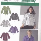 Simplicity 2762 uncut 6 8 10 12 14 Jacket Sleeve Variations Tie Belt