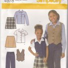 Simplicity 4978 Pattern 3 4 5 6 uncut Girls Toddlers Pants Shirt Skirt Vest