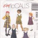 McCall's 2369 Pattern 10 12 14 uncut Girls Jumper Inverted Pleats