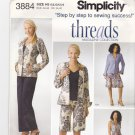Simplicity 3884 uncut 6 8 10 12 14 Dress Top Pants in two lengths Jacket