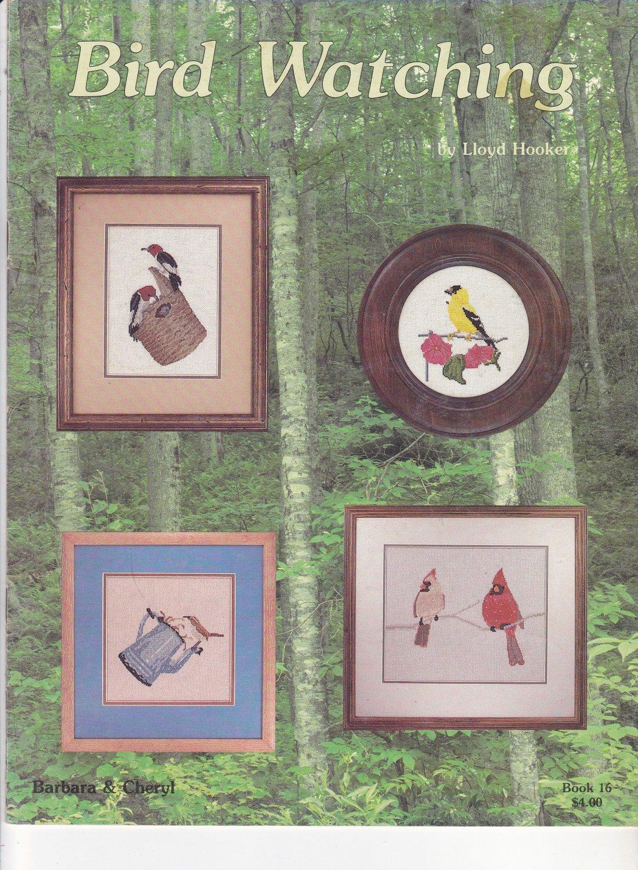 Bird Watching Barbara and Cheryl Cross Stitch Design Booklet Lloyd Hooker