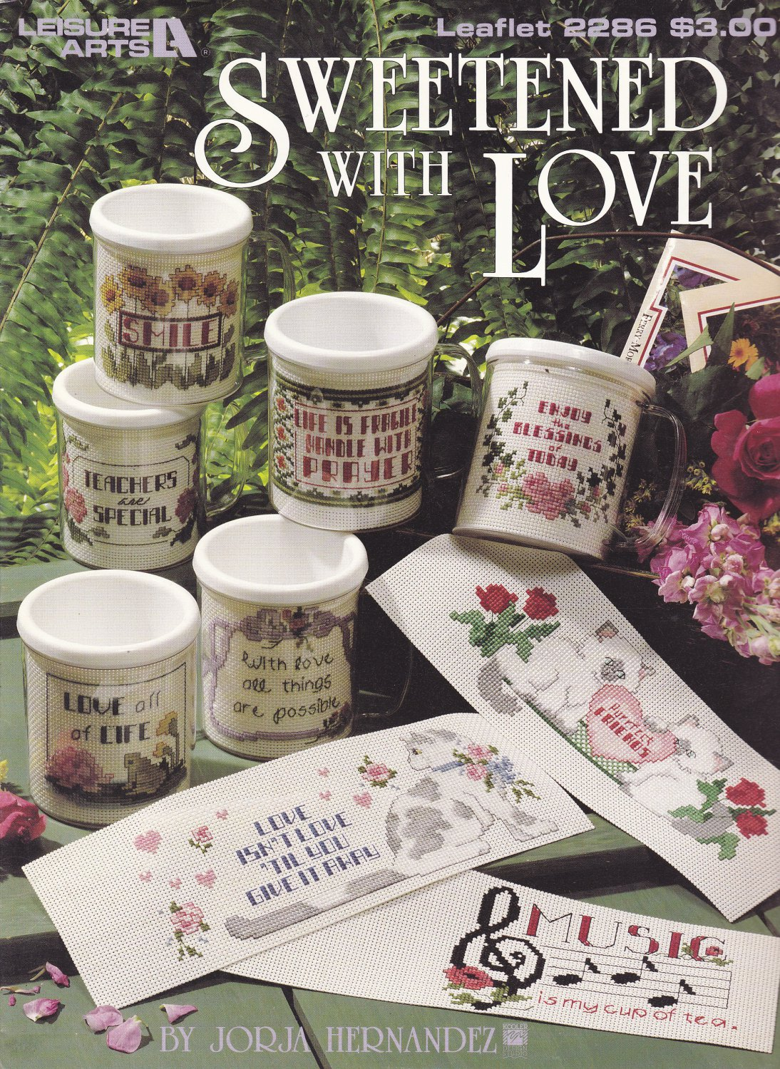 Leisure Arts 2286 Sweetened With Love for Stitch-A-Mug Cross Stitch leaflet