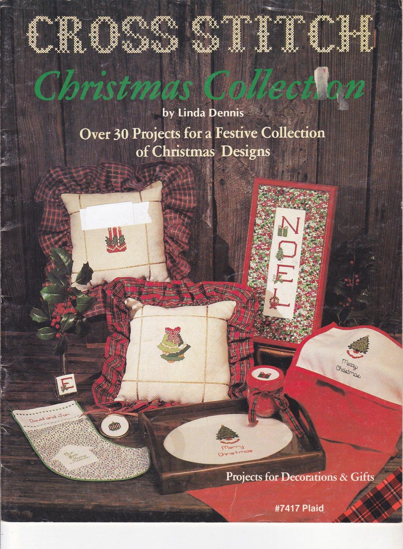 Christmas Collection Linda Dennis Plaid 7417 Cross Stitch Design Booklet
