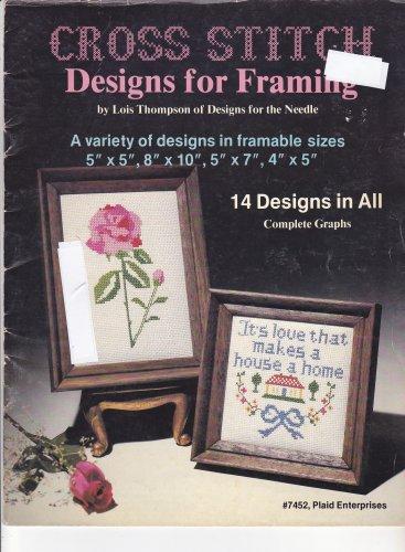 Designs for Framing Lois Thompson Plaid 7452 Cross Stitch Design Booklet