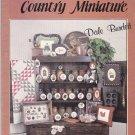 Make Mine a Country Miniature Dale Burdett Cross Stitch Design Booklet Mini