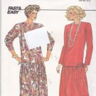Butterick 3410 Pattern uncut 6 8 10 Loose Fit Dress Dropped Waist Vintage 1980s