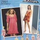 Simplicity 2951 Uncut 4 6 8 10 12 Dress or Mini Dress Sleeve and Bodice Variations Project Runway