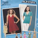 Simplicity 2956 Uncut 4 6 8 10 12 Knit Dress or Tunic Bodice, Skirt Variations Project Runway