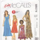 McCall's Pattern M6074 Uncut 16 18 20 22 Pullover Summer Dresses in 3 Lengths