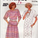 Butterick Pattern 3670 Uncut 14 16 18 Pullover Straight Dress Top Flared Skirt