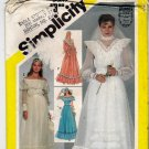 Simplicity Pattern 5217 uncut 10 Bridal Wedding Bridesmaid Dress Gunne Sax 1980s