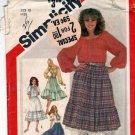 Simplicity 5283 Pattern uncut 10 Boho Peasant Blouse Petticoat Skirt Vintage 1980s