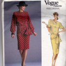 Vogue 1897 Pattern 12 Loose Fit Blouson Top Skirt Givenchy Vintage 1980s Cut Complete