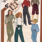 Simplicity 5731 Pattern uncut Girls 12 Front Pleat Pants Knickers Vintage 1980s