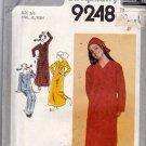 Simplicity 9248 Pattern uncut Teen 5 6 Bust 28 Night Shirt Pajamas Nightcap Hat
