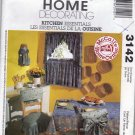 McCall's Home Decor 3142 Pattern Kitchen Essentials Chair Cover Plastic Bag Holder
