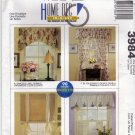 McCall's Home Decor 3984 Pattern Window Treatments Cornice Valance Panels