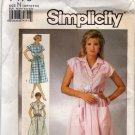 Simplicity Pattern 7475 Uncut 10 12 14 Shirtwaist Dress Vintage 1980s