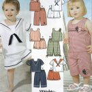 Simplicity 5982 Pattern uncut Toddlers 1/2 1 2 3 4 Sailor Top Shorts