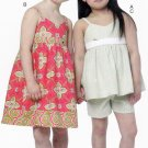 See & Sew B5630 Pattern uncut Toddler 3 4 5 6 Sun Dress Top Shorts