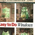 Butterick Home Decor 5946 Pattern Window Jabot Valance Curtains