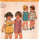 Simplicity 7456 Pattern uncut Toddlers Children 3 Short Jumpsuit Vintage 1970s Cut Complete