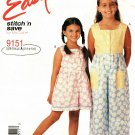 McCall Stitch N Save 9151 size 4 Girls Jumpsuit Romper, may be missing pieces