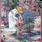 """Her Garden"" Dimensions No-Count Cross Stitch Kit 5x7 inches 6734"