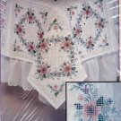 Bucilla Colorpoint Paintstitching Stamped Kit Floral Wreath Quilt Blocks 4 Squares 63630