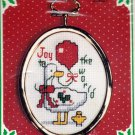 Counted Cross Stitch Ornament Kit Joy to the World Duck Christmas 30657 New Berlin