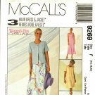 McCall's 9269 Pattern uncut 16 18 20 Sleeveless Dress Short Sleeve Jacket
