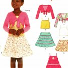 New Look 6582 Pattern uncut Toddlers Girls 3 4 5 6 7 8 Dress Tiered Skirt Bolero Tank