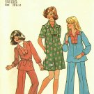 Simplicity 7105 Pattern uncut Girls 12 14 Dress Smock Top Pants vintage 1970s
