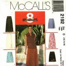McCall's 2192 Pattern uncut 12 14 16 Wrap Skirts in Two Lengths