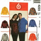 McCall's 4223 Pattern uncut S M L 34 - 44 Unisex Pullover Fleece Top Hoodie