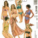 McCall's M4471 Pattern uncut 12 14 16 18 Two Piece Bathing Suit Bikini Swimsuit Pareo