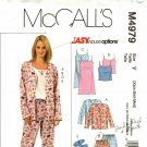 McCall's M4979 Pattern uncut XS S M Pajamas Camisole Nightgown Slippers