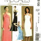 McCall's M5100 Pattern uncut 12 14 16 18 Lined Evening Cocktail Dress Halter Twist Bodice