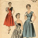 Advance 6446 Sewing Pattern uncut 14 bust 32 Vintage 1950s Half & Half Dress Crossover Bodice