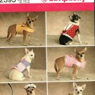 Simplicity 2393 Pattern uncut xxs xs s m Walking Vests for Dogs 1.5 - 8 pounds