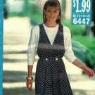 Butterick See & Sew 6447 Pattern uncut 12 14 16 Mock Wrap Front Jumper Top