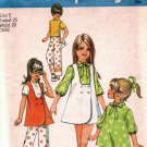 Simplicity 8716 Pattern uncut 6 Vintage 1970s Girls Jumper Dress Tunic Pants