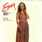 McCall's Stitch N Save 8765 Pattern uncut Jumper Empire Waist Button Front Bodice