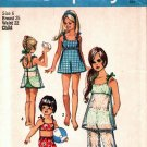 Simplicity 8813 Pattern uncut 6 Vintage 1970s Girls Bathing Suit Bell Bottom Pants