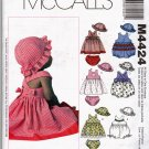 McCall's M4424 Pattern uncut Infants Babies 13 - 24 pounds Dress Romper Panties Hat Laura Ashley